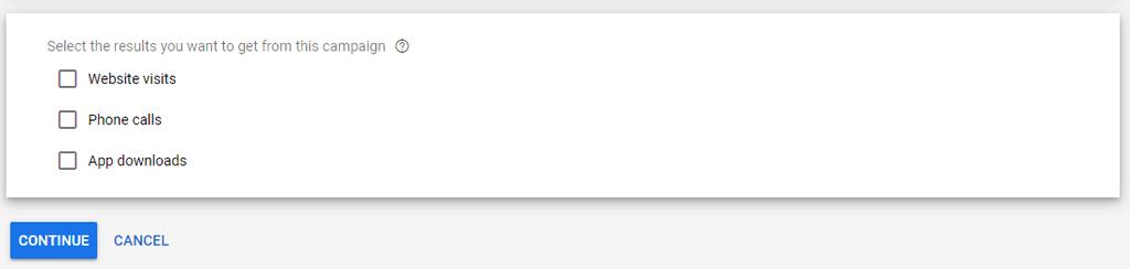 Google Ads Ziel setzen