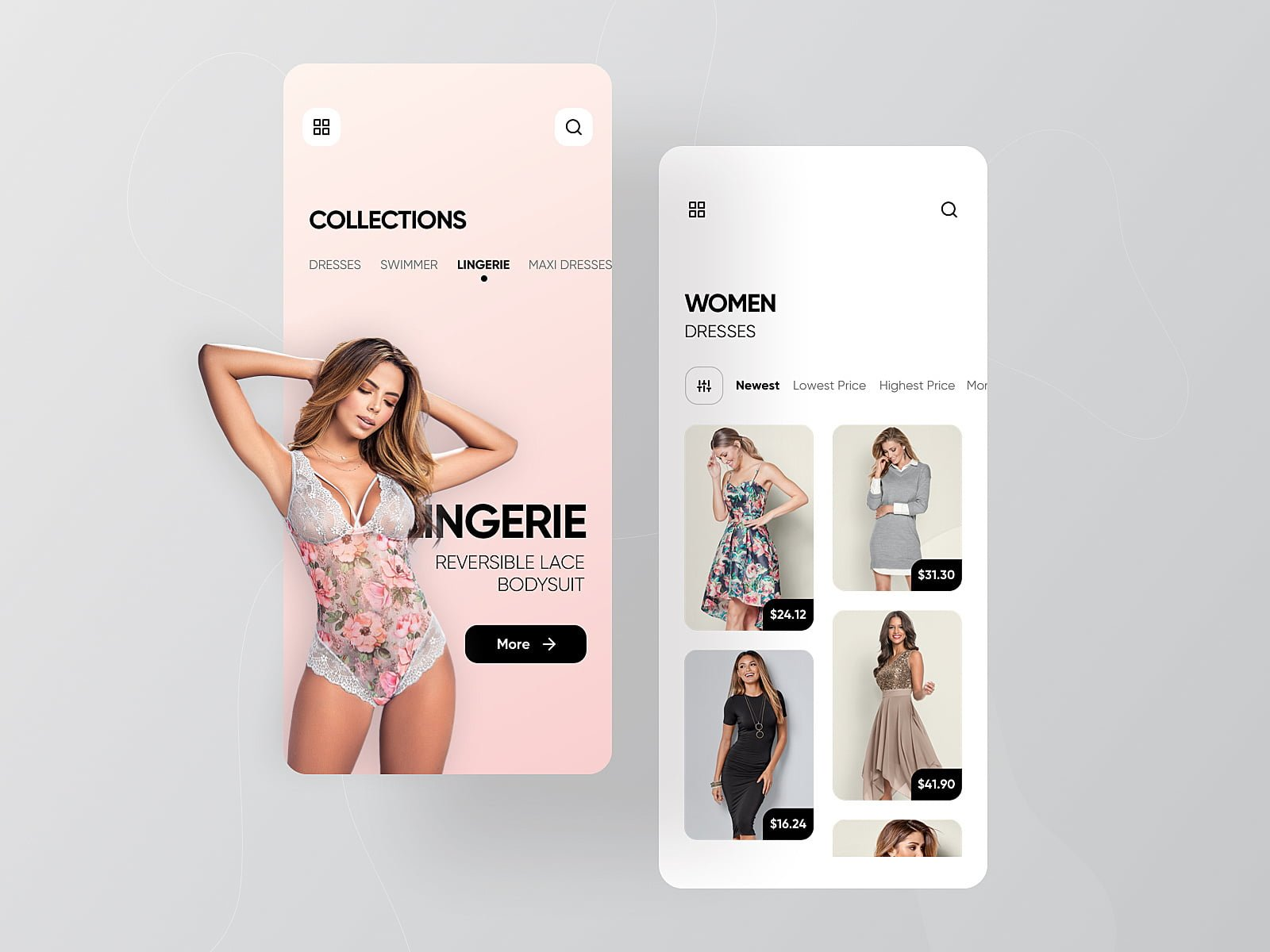 Online Shop mobile version
